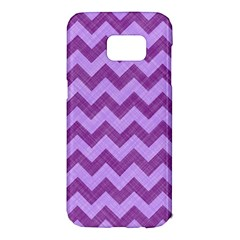Background Fabric Violet Samsung Galaxy S7 Edge Hardshell Case