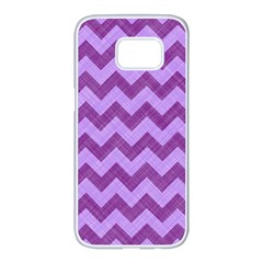 Background Fabric Violet Samsung Galaxy S7 Edge White Seamless Case