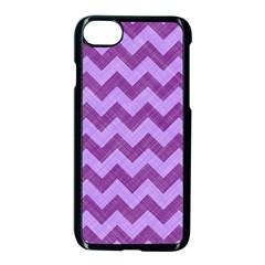Background Fabric Violet Apple Iphone 8 Seamless Case (black)