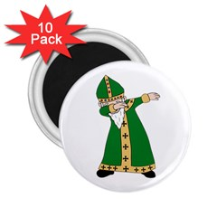 St  Patrick  Dabbing 2 25  Magnets (10 Pack)