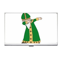 St  Patrick  Dabbing Business Card Holders by Valentinaart