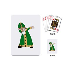 St  Patrick  Dabbing Playing Cards (mini)  by Valentinaart