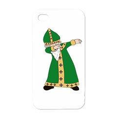 St  Patrick  Dabbing Apple Iphone 4 Case (white) by Valentinaart