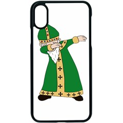 St  Patrick  Dabbing Apple Iphone X Seamless Case (black) by Valentinaart