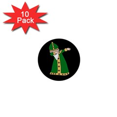 St  Patrick  Dabbing 1  Mini Buttons (10 Pack)  by Valentinaart