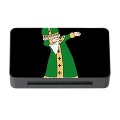 St  Patrick  Dabbing Memory Card Reader With Cf by Valentinaart
