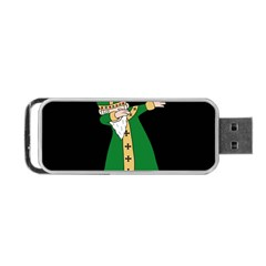 St  Patrick  Dabbing Portable Usb Flash (one Side) by Valentinaart