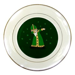 St  Patrick  Dabbing Porcelain Plates by Valentinaart