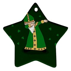 St  Patrick  Dabbing Star Ornament (two Sides) by Valentinaart