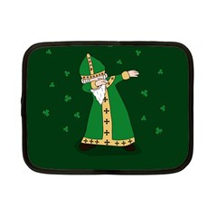 St  Patrick  Dabbing Netbook Case (small)  by Valentinaart