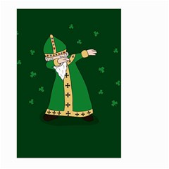 St  Patrick  Dabbing Large Garden Flag (two Sides) by Valentinaart