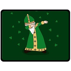 St  Patrick  Dabbing Double Sided Fleece Blanket (large)  by Valentinaart