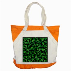 St  Patricks Day Clover Pattern Accent Tote Bag by Valentinaart