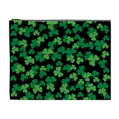St  Patricks Day Clover Pattern Cosmetic Bag (xl)
