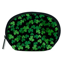 St  Patricks Day Clover Pattern Accessory Pouches (medium)  by Valentinaart