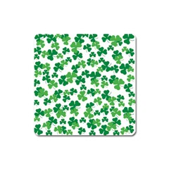 St  Patricks Day Clover Pattern Square Magnet by Valentinaart