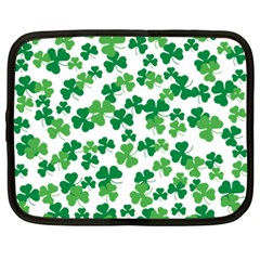 St  Patricks Day Clover Pattern Netbook Case (large) by Valentinaart
