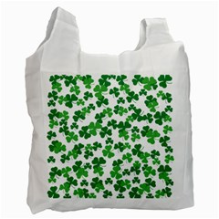 St  Patricks Day Clover Pattern Recycle Bag (one Side) by Valentinaart