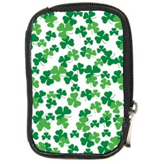 St  Patricks Day Clover Pattern Compact Camera Cases by Valentinaart