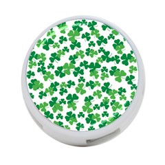 St  Patricks Day Clover Pattern 4 Port Usb Hub (one Side) by Valentinaart