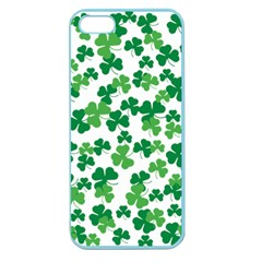 St  Patricks Day Clover Pattern Apple Seamless Iphone 5 Case (color) by Valentinaart
