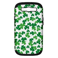 St  Patricks Day Clover Pattern Samsung Galaxy S Iii Hardshell Case (pc+silicone) by Valentinaart