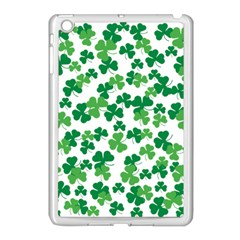 St  Patricks Day Clover Pattern Apple Ipad Mini Case (white) by Valentinaart