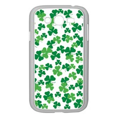 St  Patricks Day Clover Pattern Samsung Galaxy Grand Duos I9082 Case (white) by Valentinaart