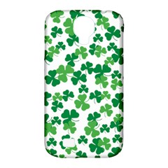 St  Patricks Day Clover Pattern Samsung Galaxy S4 Classic Hardshell Case (pc+silicone) by Valentinaart