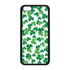 St  Patricks Day Clover Pattern Apple Iphone 5c Seamless Case (black) by Valentinaart