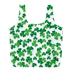 St  Patricks Day Clover Pattern Full Print Recycle Bags (l)  by Valentinaart