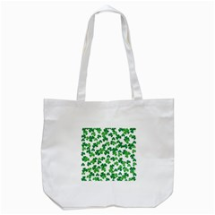 St  Patricks Day Clover Pattern Tote Bag (white)