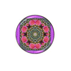Roses In A Color Cascade Of Freedom And Peace Hat Clip Ball Marker (4 Pack) by pepitasart