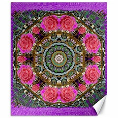 Roses In A Color Cascade Of Freedom And Peace Canvas 20  X 24   by pepitasart