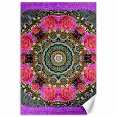 Roses In A Color Cascade Of Freedom And Peace Canvas 24  X 36  by pepitasart