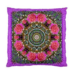Roses In A Color Cascade Of Freedom And Peace Standard Cushion Case (two Sides) by pepitasart
