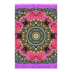 Roses In A Color Cascade Of Freedom And Peace Shower Curtain 48  X 72  (small)  by pepitasart