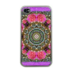 Roses In A Color Cascade Of Freedom And Peace Apple Iphone 4 Case (clear) by pepitasart