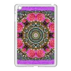 Roses In A Color Cascade Of Freedom And Peace Apple Ipad Mini Case (white) by pepitasart