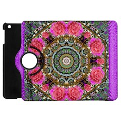 Roses In A Color Cascade Of Freedom And Peace Apple Ipad Mini Flip 360 Case by pepitasart