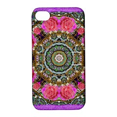 Roses In A Color Cascade Of Freedom And Peace Apple Iphone 4/4s Hardshell Case With Stand by pepitasart