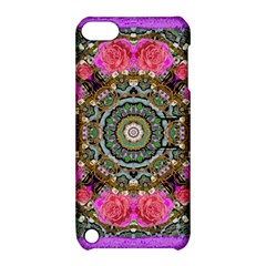Roses In A Color Cascade Of Freedom And Peace Apple Ipod Touch 5 Hardshell Case With Stand by pepitasart