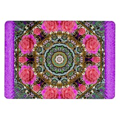 Roses In A Color Cascade Of Freedom And Peace Samsung Galaxy Tab 10 1  P7500 Flip Case by pepitasart