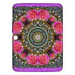 Roses In A Color Cascade Of Freedom And Peace Samsung Galaxy Tab 3 (10 1 ) P5200 Hardshell Case  by pepitasart