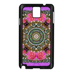 Roses In A Color Cascade Of Freedom And Peace Samsung Galaxy Note 3 N9005 Case (black) by pepitasart