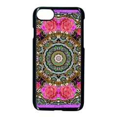 Roses In A Color Cascade Of Freedom And Peace Apple Iphone 8 Seamless Case (black) by pepitasart