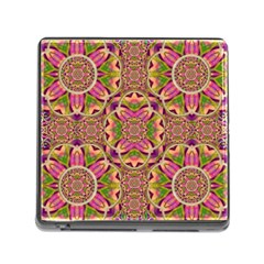 Jungle Flowers In Paradise  Lovely Chic Colors Memory Card Reader (square) by pepitasart
