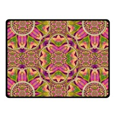 Jungle Flowers In Paradise  Lovely Chic Colors Fleece Blanket (small) by pepitasart