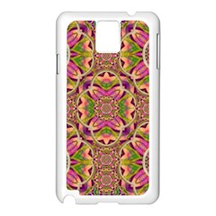 Jungle Flowers In Paradise  Lovely Chic Colors Samsung Galaxy Note 3 N9005 Case (white) by pepitasart