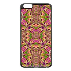 Jungle Flowers In Paradise  Lovely Chic Colors Apple Iphone 6 Plus/6s Plus Black Enamel Case by pepitasart
